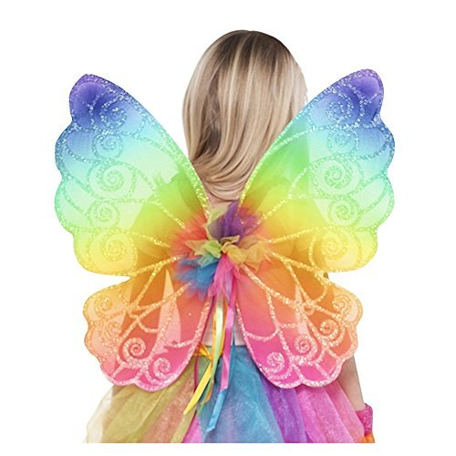 Grasslands Road Rainbow Fairy Wings - Child (Rainbow Wings Costume)