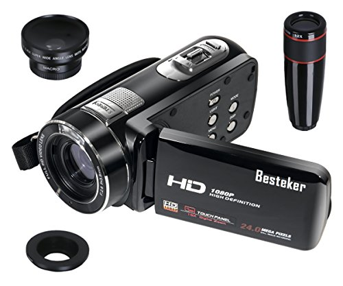 Camcorder, Besteker Portable HD 1080p 24.0 Megapixels Enhanc