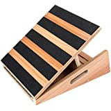 "Professional Mid-Size Wooden Slant Board, Adjustable Incline Board and Calf Stretcher - Extra Side-Handle Design for Portability - 16"" X 12.5"", 5 Positions Stretch Board (350 lb Capacity)"