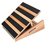 Professional Mid-Size Wooden Slant Board, Adjustable Incline Board and Calf Stretcher - Extra Side-Handle Design for Portability - 16' X 12.5', 5 Positions (350 LB Capacity)