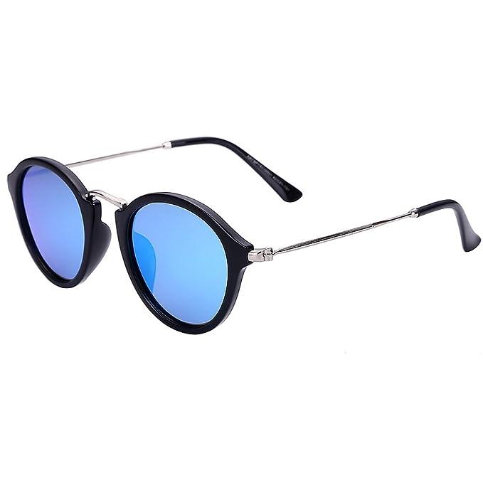 Gafas de colores caja redonda flor/Gafas de sol reflectantes/Gafas de sol para
