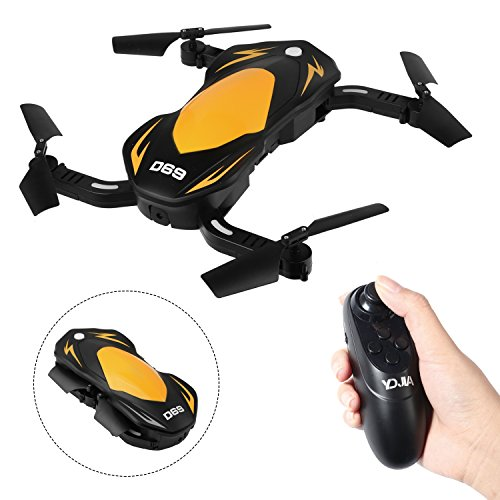 SZJJX FPV RC Drone with 2mp HD Wi-Fi Camera 2.4Ghz 6-Axis Gyro Foldable Helicopter Quadcopter for Kids & Beginners – Altitude Hold, One Key Start, Foldable Arms, Light Rtf SJ69