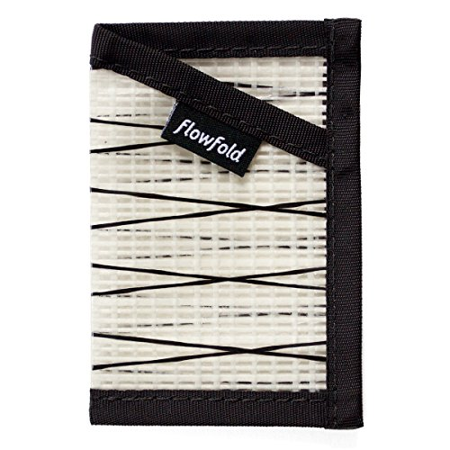 Flowfold Recycled Sailcloth Minimalist Slim Front Pocket Card Holder Wallet - Light Weight - Made in the USA - - Recycled Materials