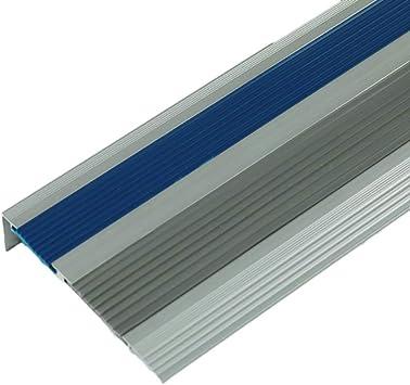 Perfil de transición Tira antideslizante de escalera de aleación de aluminio Tira de goma de pasos de jardín de infantes Tira decorativa del piso Tira anticolisión Tira de prensa de mármol: Amazon.es: