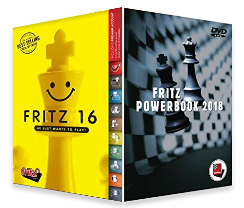 Fritz 16 Chess Playing Software Bundled with Fritz Powerbook 2018 Chess Software