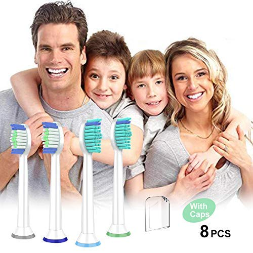 Replacement Toothbrush Heads Compatible with Philips Sonicare DiamondClean FlexCare, HealthyWhite EasyClean,Essence+(plus) Electric Toothbrush ,8 PACK