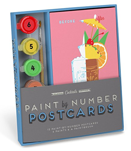 Knock Knock Cocktails Paint-by-Number Postcards - Brooklyn Downtown Store