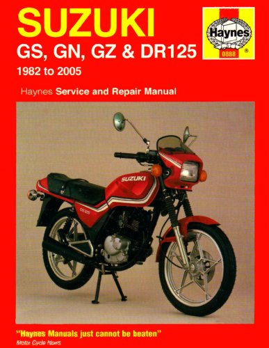 Suzuki GS, GN, GZ and DR125 Service and Repair Manual: 1982 to 2005 (Haynes Service & Repair Manuals