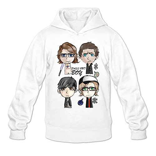 Morgan The Monkey Costume (MARY Men's New Albums Fall Out Boy Uma Thurman Hooded Sweatshirt White)