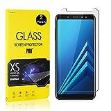 Galaxy A8 Plus 2018 Screen Protector Film, UNEXTATI® Tempered Glass Screen Protector, HD