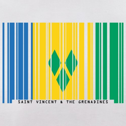 Saint Vincent and the Grenadines / St. Vincent und die Grenadinen Barcode  Flagge - Herren ...