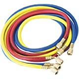 """Robinair (30072) 1/4"""" Standard Hoses with Standard Fittings Set - 72"""", Set of 3"""