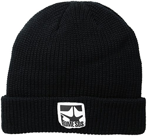 Rome Snowboards Men's Logo Beanie, Black, One ()
