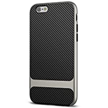 JETech Case for Apple iPhone 6s and iPhone 6 Two-Layer Slim Cover with Shock-Absorption and Carbon Fiber