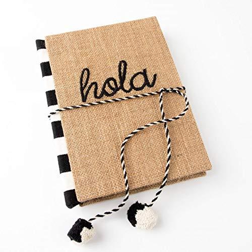 (PAPER DESTINY Hola Embroidered Jute Hardback Journal )