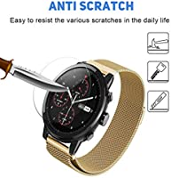 Xiaomi Huami AmazFit Stratos Smart Watch 2 Screen Protector, Vicstar 9H Hardness Bubble Free Easy Install Anti-Oil Premium Tempered Glass Film for ...
