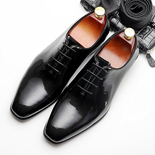 Scarpe Sottolineato da Estate Inghilterra Uomo Uomo Casual da Ha Moda Black Scarpe d'Affari v4vAnRF