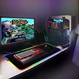 RGB Extended Gaming Mouse pad,Large led Gaming