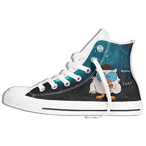 Tootsie Roll Pop Wanna Lick High Top Classic Casual Canvas Fashion Shoes Sneakers For Women & Men