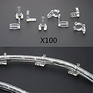 Rope lights clips do it yourselfore led rope light holder wall mounting clip 100pcs 12inches clear pvc mounting clips aloadofball Gallery