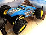 Maisto Remote Control Rock Crawler Extreme Off-road Monster Truck 2014 Sky Blue Color