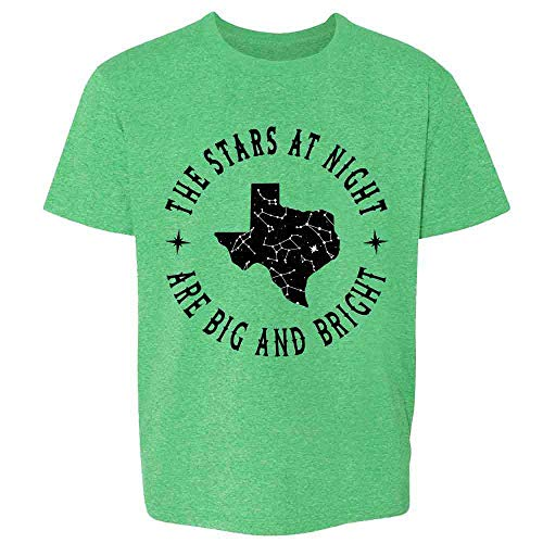 Texas Stars at Night are Big and Bright Song Heather Irish Green M Youth Kids Girl Boy T-Shirt