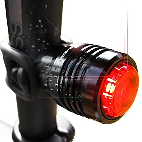 Bold II Bicycle Tail Lights, Super Bright Rear USB Taillight Runs for 16 Hours, Fits All Mountain Bikes, Road Bicycle, Backpacks, Waterproof & Install in (Bike Back Light Usb)