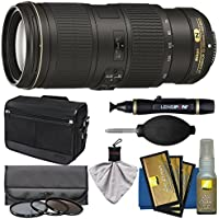 Nikon 70-200mm f/4G VR AF-S ED Nikkor-Zoom Lens with Shoulder Bag + 3 Filters + Kit for D3200, D3300, D5300, D5500, D7100, D7200, D750, D810 Camera