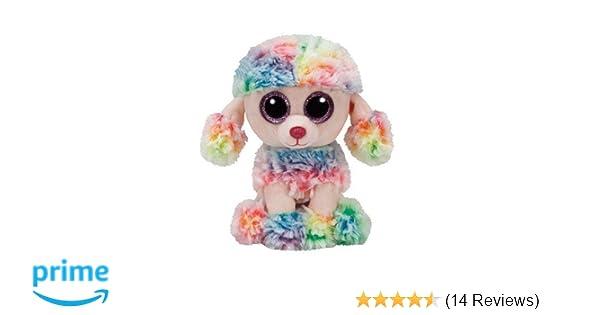 c6cf00c1c34 Amazon.com  Ty Beanie Boo Rainbow Poodle Medium - 9