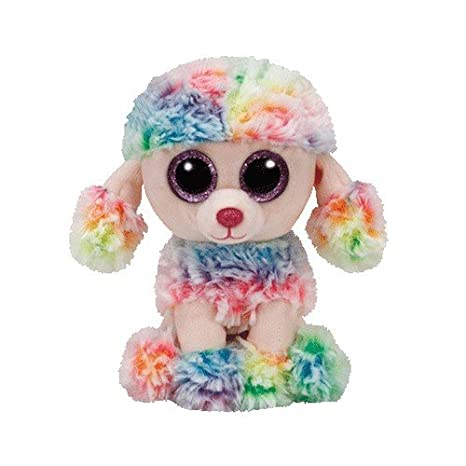 94d3146ee41 Image Unavailable. Image not available for. Color  Ty Beanie Boo Rainbow  Poodle ...