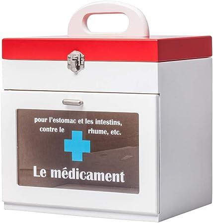 Medicina Infantil Medicina de Madera Caja de Primeros Auxilios Kit for bebés Caja de Almacenamiento for Uso Familiar botiquín 29x24x19cm WKY: Amazon.es: Hogar