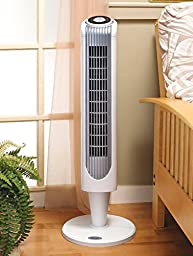 Holmes  Oscillating Tower Fan with Remote Control, 32 - Inch