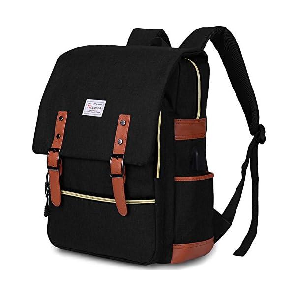 modoker vintage laptop backpack for women men,school college backpack with usb charging port Modoker Vintage Laptop Backpack for Women Men,School College Backpack with USB Charging Port Fashion Backpack Fits 15 inch Notebook (Black) 51FWlgLhuxL