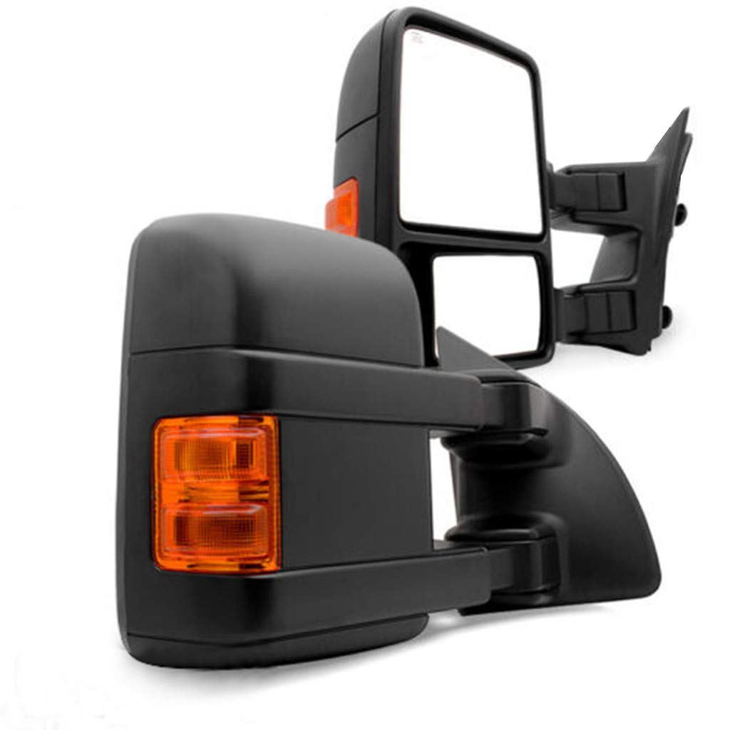 Rigel7 Power Heated Turn Signal Side Mark Light Lefr Right Tow Mirrors Compatible with Ford F250 1999-2007 Car Vehicle Replacement Repair Tool Parts Accessories