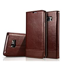 Galaxy Note 5 Case,TYoung Samsung Galaxy Note 5 Case [ Card Slots ] Book Style Stand Cover Luxury Premium PU Leather Skin Wallet Pouch Holster Case [ Hand Strap] Flip Cover - Brown