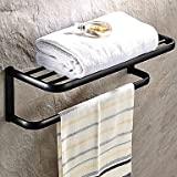 MEI Oil Rubbed Bronze Brass Wall-mounted Towel Bar