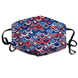 Unisex Patriotic USA Red Blue White Printed Cotton Mouth-Masks Face Mask Polyester Anti-dust Masks