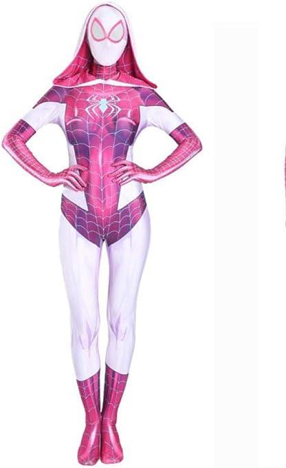 wdegr Disfraz De Spiderman Gwen para Niño Niña Cosplay Superhéroe ...
