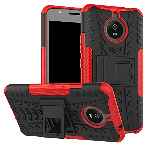 OFU®Para MOTO E4 plus Funda, Híbrido caja de la armadura para el teléfono MOTO E4 plus resistente a prueba de golpes contra la lucha de viaje accesorios esenciales del teléfono-verde rojo