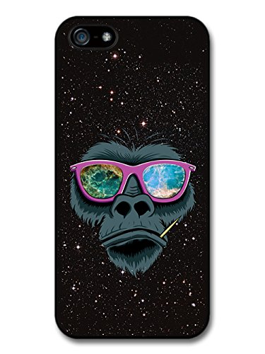Cool Gorilla Illustration with Sunglasses and Crab Nebula in Space Design case for iPhone 5 5S