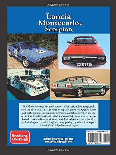 Lancia Montecarlo & Scorpion Road Test Portfolio Brooklands Books Road Tests Series: Amazon.es: R. M. Clarke: Libros en idiomas extranjeros