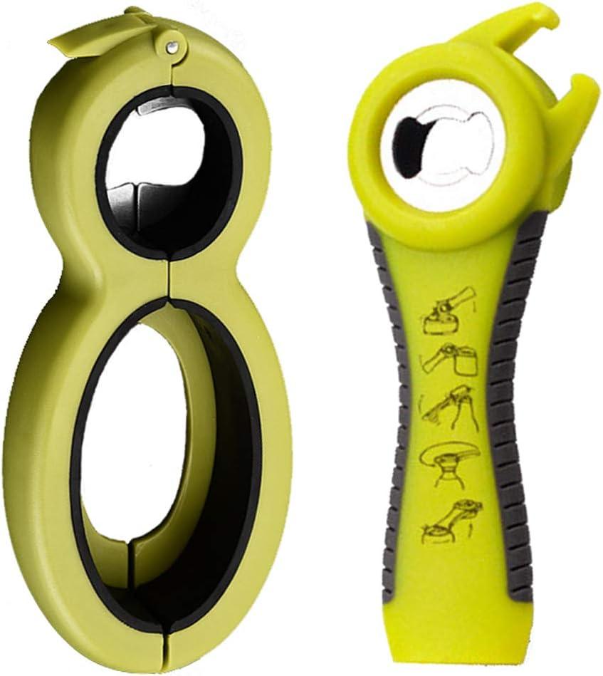 Funny Tool Rubber Grip Bottle Opener Plastic Jar Opener//Ergonomic Easy Can Opener for Elderly,Women Children,Seniors 2 pack Hand Weakness,Arthritis Sufferers Kitchen Tool Set black
