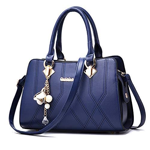 Pu Work Capacity Bucket Leather Ladies Female Shoulder Cosmetics Bag Fashion Flht Shopping Royalblue Large Handbag Bag Messenger Storage Travel B610I