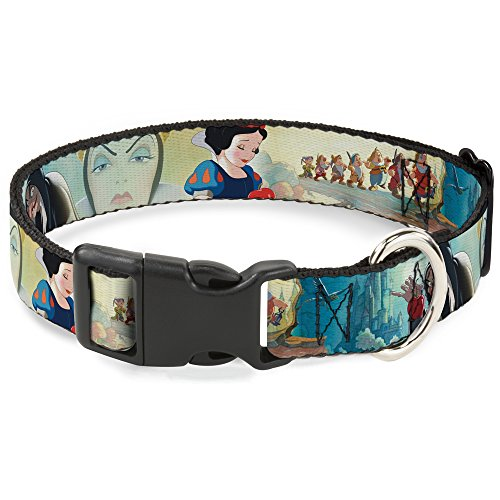 Buckle-Down Snow White/Dwarves/Old Witch/Evil Queen Scenes Disney Dog Collar Plastic Clip Buckle, Wide-Small (Queen Buckles)