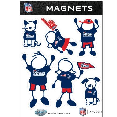 NFL New England Patriots Family Magnet Set