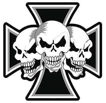 Aufkleber Sticker Eisernes Kreuz Totenköpfe Autoaufkleber