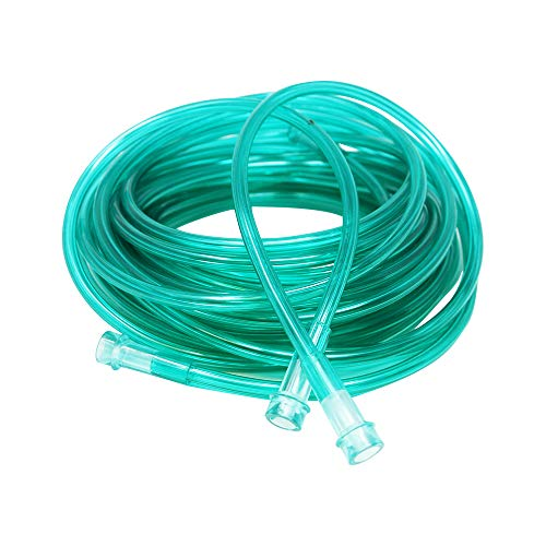 (Pivit Crush-Resistant Oxygen Tubing 7 ft Green | Low-Memory Helps Prevent Kinking Remains Straight | Green is Easy to See for Safety | Universal Fittings Connect Fast & Easy Ensures Most Optimal Flow)