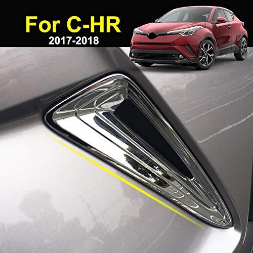 For Toyota C-HR 2017 2018 2019 Chrome Front Head Fog Light Foglight Lamp Cover Trim Bumper Frame Bezel Molding Garnish Surround Protector Decoration Car Styling