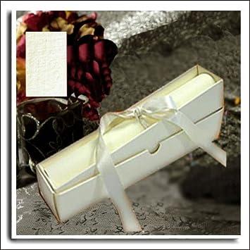 Wedding Wonders Schachtel Für Schriftrolle, Für Einladungen Zur Hochzeit,  Leinentextur, Elfenbeinfarben, 5