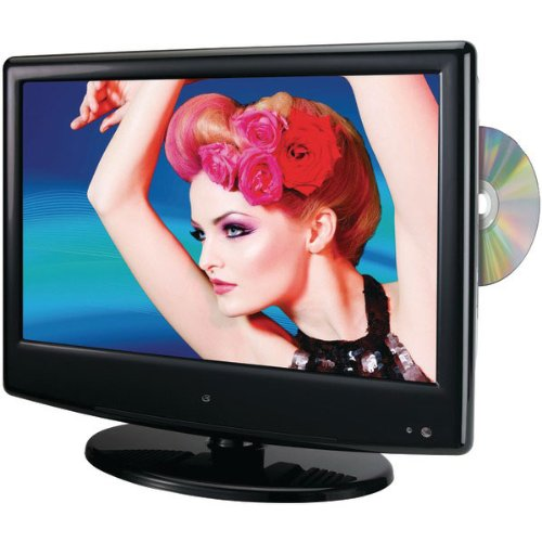 GPX TDE1380B 13.3-Inch LED TV with Built-In DVD Player